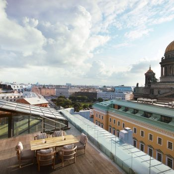 Терраса отеля W St. Petersburg