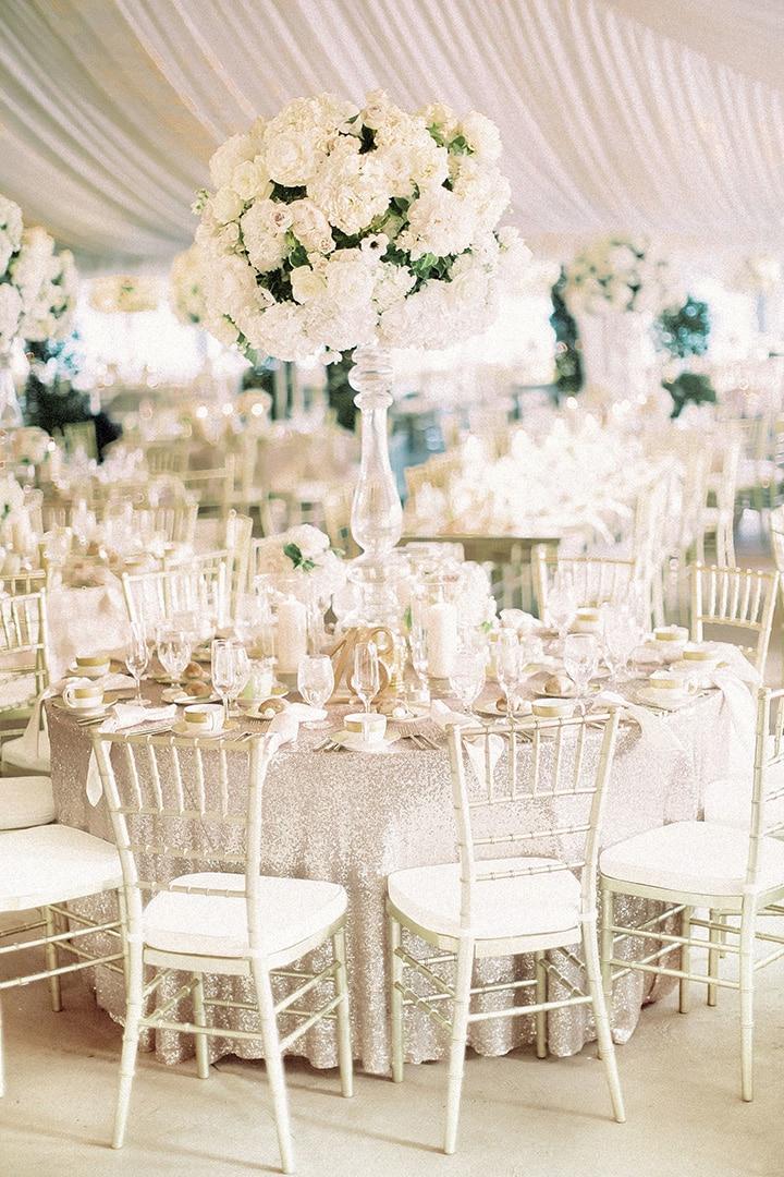 Как украсить зал на свадьбу, выбор цвета для оформления зала - 2
