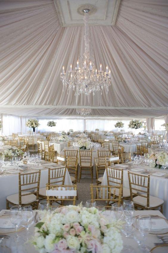 Как украсить зал на свадьбу, выбор цвета для оформления зала - 5