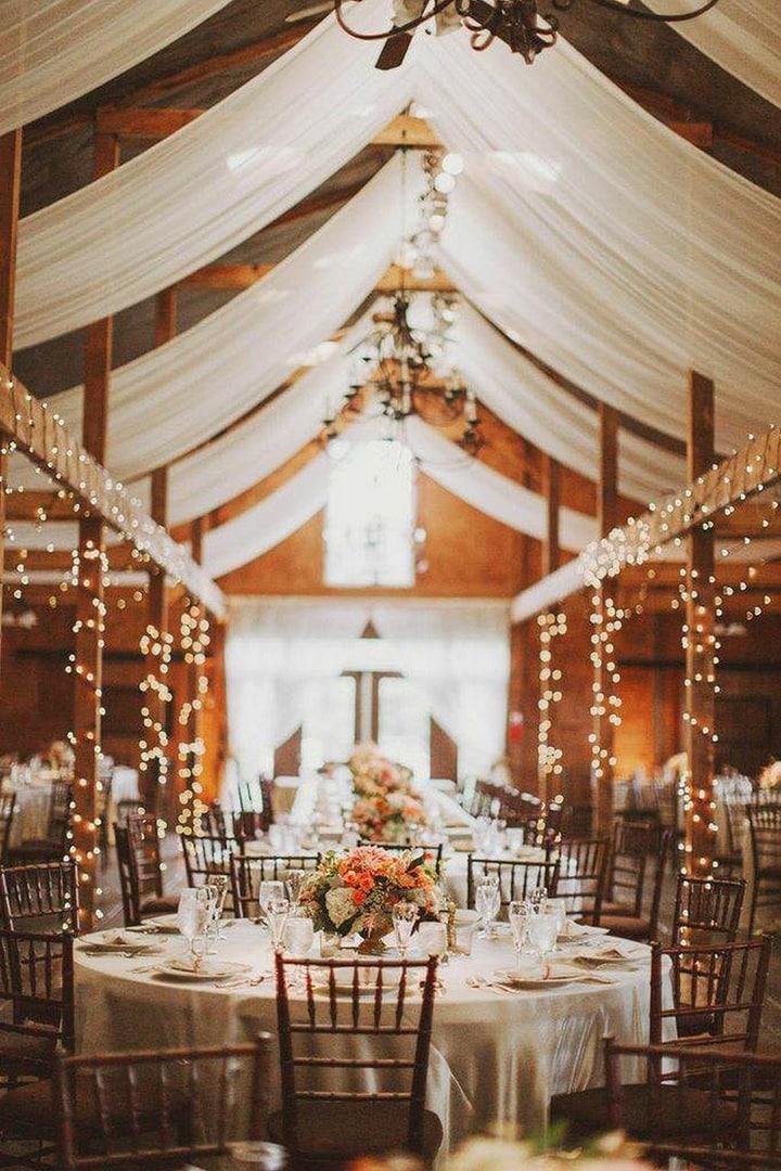 Как украсить зал на свадьбу, выбор цвета для оформления зала - 6