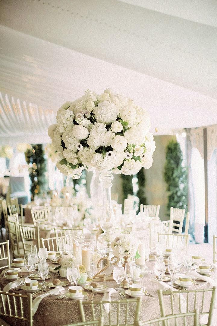 Как украсить зал на свадьбу, оформление свадебного зала живыми цветами - 1