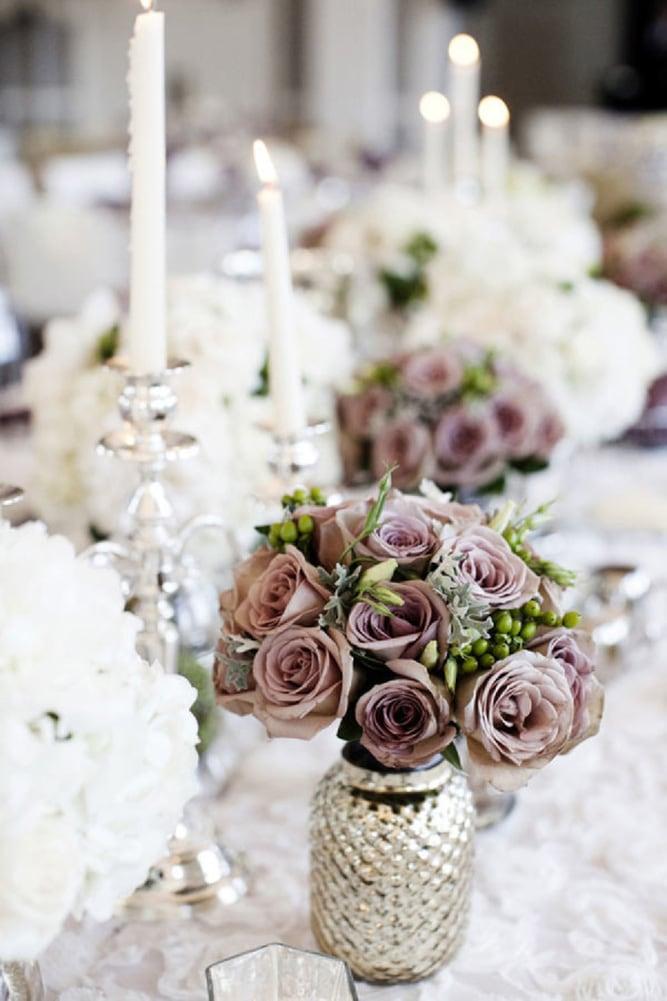Как украсить зал на свадьбу, оформление свадебного зала живыми цветами - 8