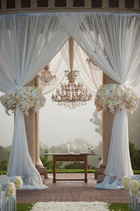 Как украсить зал на свадьбу, выбор стиля для оформления свадебного зала - 7
