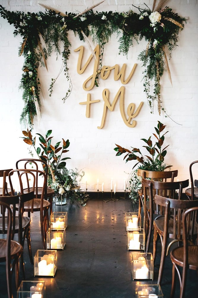 Список оригинальных идей для оформления и украшения зала на свадьбу своими руками - 4